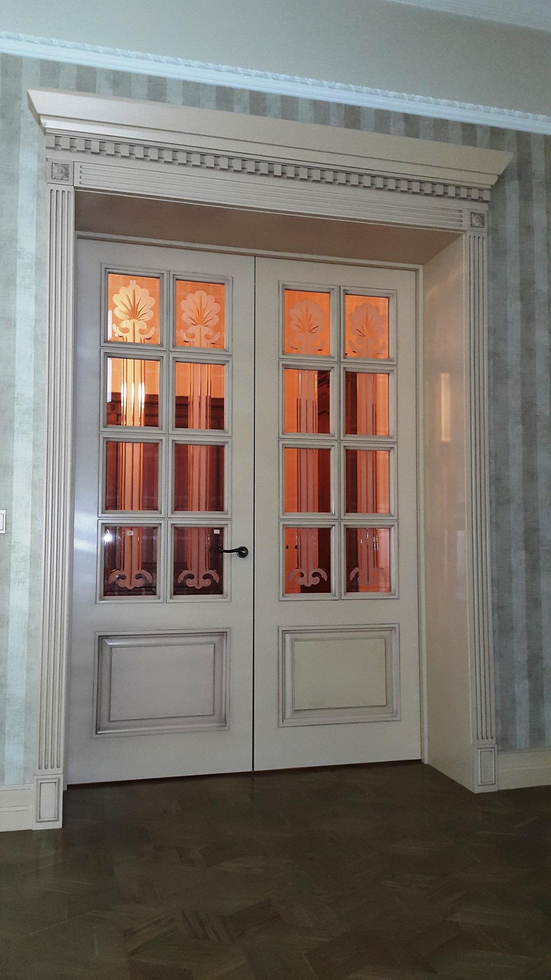 Дверь Дуб комбинированный Хай-Тек №1